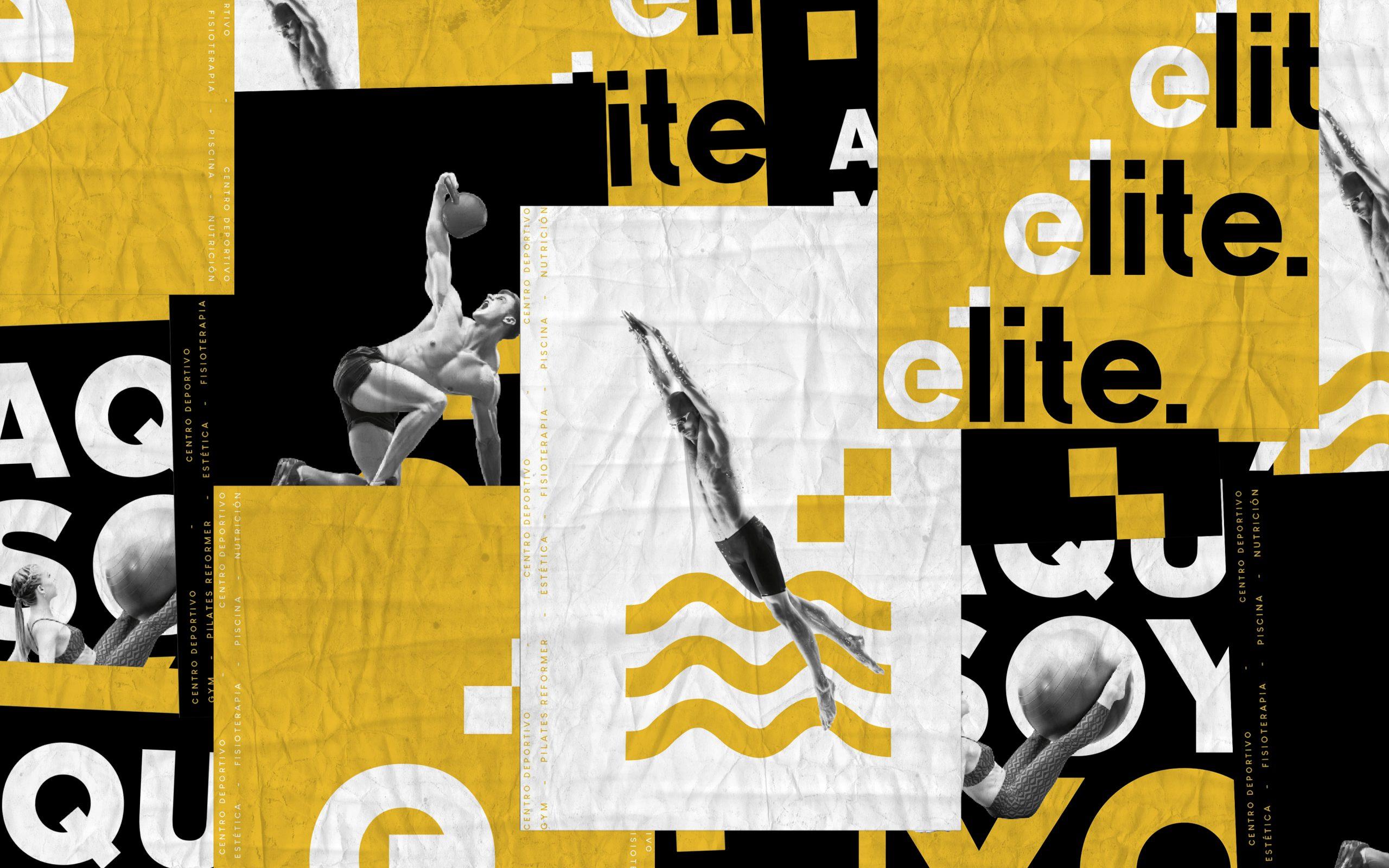 Collage wrinkled poster mockup